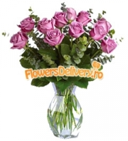 Bouquet of 11 pink roses