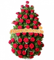 Funeral wreath of roses
