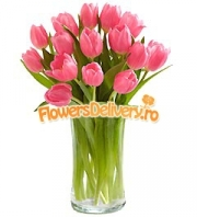 Pink tulips bouquet