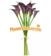Purple calla bouquet