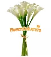 White calla bouquet