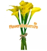 Yellow calla bouquet